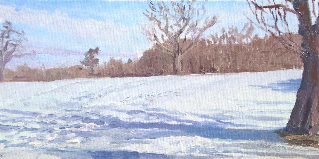 Snowy Morning by kirk larsen Muttontown