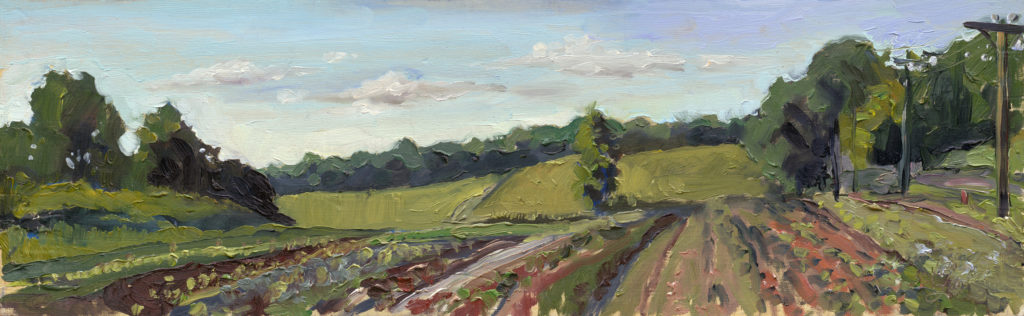 Young's farm- brookville Kirk Larsen 5x17 oil on panel